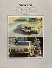 Volvo 240-Series 1978-79 UK Market Sales Brochure 244 245 DL GL GLE