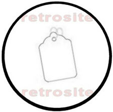 200 White Small Price Merchandise Tags Blank With Strings Strung 4