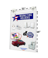 "11""W x 14""H Window Mount Frame Sign Holder with 2 Suction Cups with Hooks Qty 6"