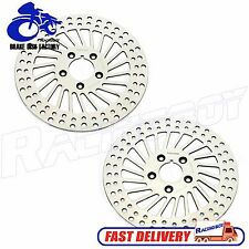 """L+R 11.5"""" Polished Front Brake Disc Rotor for Harley Dyna Touring 84-99"""