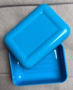 Travel Soap Box Holder Case Blue, Rectangular, Large BATHROOM, CAMPING, TREKING