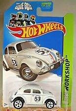 2014 Hot Wheels #191 Workshop-All Stars VOLKSWAGEN BEETLE Love Bug White w/5 Sp
