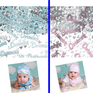 Baby Christening Confetti Girl/Boy Party Table Decor Blue/Pink Foil Sparkle 14G