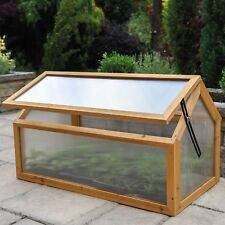 Cold Frame Polycarbonate Wooden Greenhouse Outdoor Plant Shelter Garden Grade B