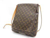 1Auth LOUIS VUITTON Musette Monogram Crossbody Shoulder Bag M51256 V-4075