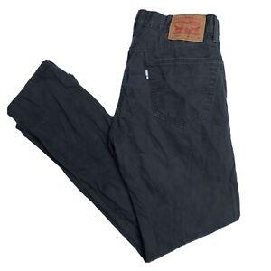 LEVIS 505 Mens Regular Fit Dark Grey Chinos Trousers W32 L32 (G907)