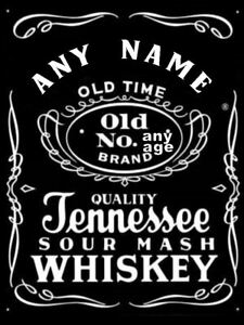 JACK DANIEL'S PERSONALISED edible cake/cupcake toppers  -Icing or Wafer Paper
