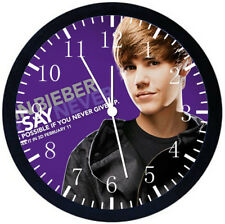 Justin Bieber Black Frame Wall Clock Nice For Decor or Gifts Y21