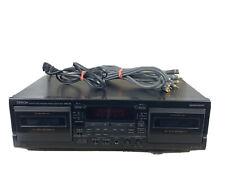 Denon Drw585 Precision Audio Component Dual Cassette Deck Player/Recorder Tested