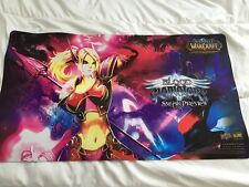World of Warcraft (Heathstone) Tapis/Playmat Blood Gladiators (Elf Mage) RARE !