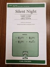 *Lot Of 15* Silent Night by Gruber/Gilpin - Carl Fischer - Satb Choral Octavo