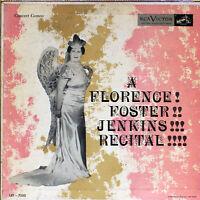 "Florence Foster Jenkins - Recital -RCA Victor LRT 7000 -Vintage 10"" record (VG)"