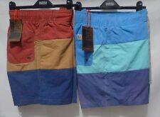 Polyamide Striped Regular Size Swim Shorts for Men