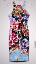 NWT $250 CLOVER CANYON POOL FLOWER NEOPRENE DRESS, SIZE SMALL
