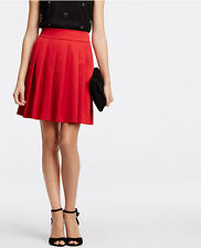 Ann Taylor - Size 6 (SMALL) Red Cherry Pleated Skirt $129.00 (D608)