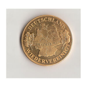 BRD Medaille Wiedervereinigung 3.Oktober 1990  Nr.103/4/17
