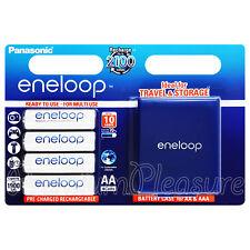 4 x Panasonic Eneloop AA 1900mAh batteries Rechargeable BK-3MCCE Storage box