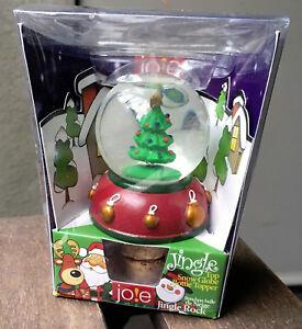 Joie Christmas Tree Snow Globe Wine Bottle Stopper NEW