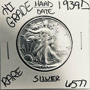 1939 D LIBERTY WALKING SILVER HALF DOLLAR HI GRADE U.S. MINT RARE COIN 6577