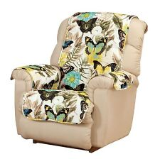 Butterfly Recliner Cover, Furniture Protector, Butterfly Pattern Recliner Cover