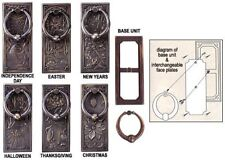 SPI Holiday Door Knocker Set of 6 interchangeable Holiday plates Bronze Ring