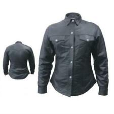 Ladies Leather Western Long Sleeve Shirt