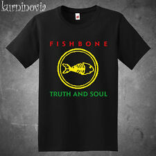 Fishbone Truth and Soul Logo Rock Band Men's Black T-Shirt Size S to 3XL