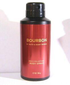 "Bath Body Works Men's Collection ""BOURBON"" Body Spray Mist 3.7 Oz NEW Full Size"