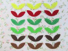 60 Embossed Felt Leaves Applique/floral/design/leaf/flower/Craft/decor/Sew H205