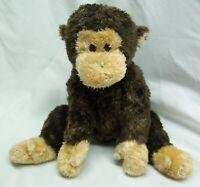 """TY Beanie Buddy NICE SOFT BROWN & TAN MONKEY 7"""" Stuffed Animal 2007"""