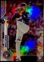 2020 Topps Update Devin Williams Rainbow Foil RC Rookie ROY Brewers