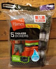 """New listing New Hanes Men's Boxers Tagless Wicking Size Small 28-30"""" Cool Comfort Soft 5 Pk"""