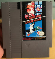 Super Mario Bros / Duck Hunt Nintendo NES Contacts Cleaned ~ Tested ~ Working