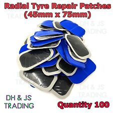 100 Universal Tyre Patch Radial Repair Tyre Plug Patch Patches Plugs 45mm x 75mm