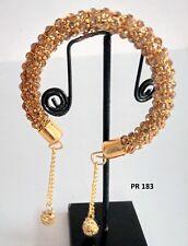 Indian Fashion Diwali Jewelry Pearl CZ Bangle Wrist Band Gold Plated Bracelet