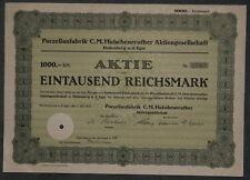 Porzellanfabrik C. M. Hutschenreuter Aktiengesellschaft 1937 1000 RM