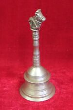 Brass Nandi Hand Bell Old Vintage Antique Rare Collectible PP-6