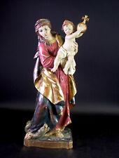 Madonna mit Jesuskind - signiert RÖSNER -  Holz geschnitzt & gefasst