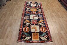 Old Hand Made Persian Heriz region runner rug Oriental rug 260 x 100 cm