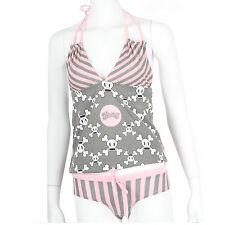 Julius & Friends Paul Frank $61 CAD Gray Pink Skurvy PJ Cami Panty Sleep Set NWT