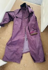 Target Dry waterproof Purple Jacket Trench Coat Mac UK 18 Women's New Long