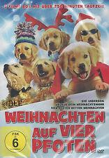 DVD + Weihnachten auf vier Pfoten + 3 Filme + Weihnachtsmann + Hunde +