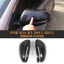 Car Rear View Mirror Covers 2PCS Carbon Fiber Fit For Kia Optima K5 2011-2015