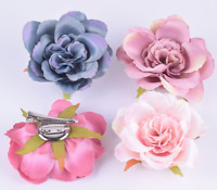 NEW Beautiful Multi Layered Rose Flower Hair Clip /Corsage, 4 Colours, UK Seller