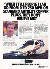 1984 Dodge Daytona Funny Car Race 250mph Advertisement Car Print Ad J506