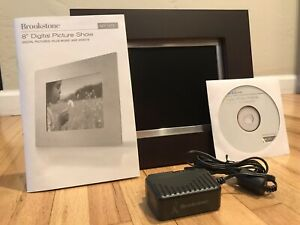 "Brookstone 8"" digital frame #630855 pictures plus music and videos"