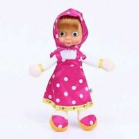 "9"" MASHA AND THE BEAR Cartoon Characters Plush Toy Kids Soft Doll"