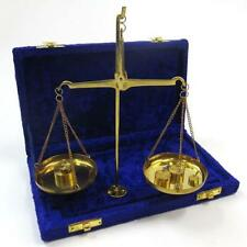 NAUTICAL Marine Navigation BRASS SCALE with STAND 50 gm WEIGHTS in VELVET BOX