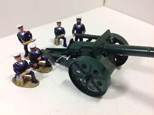 Modern Metal British Sailors with Britains 4.7 inch naval gun.