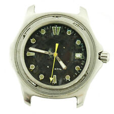 TAG HEUER WAB1110 AQUARACER 300M BLACK DIAL S.S. WATCH HEAD FOR PARTS OR REPAIRS